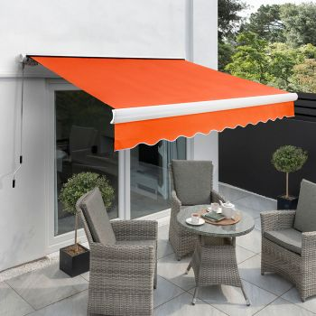4.0m Full Cassette Electric Awning, Terracotta